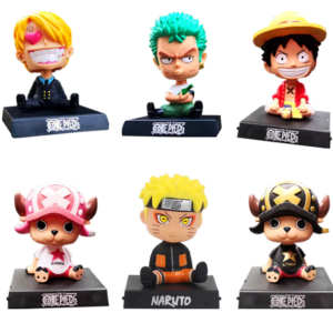 One piece spring bobble head set