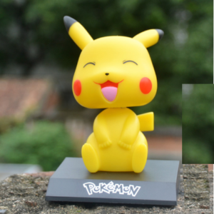 pikachu laughing bobble head front
