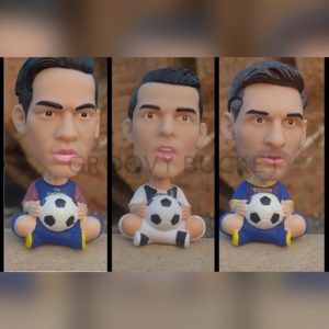 Neymar Ronaldo Messi head shaking bobble head