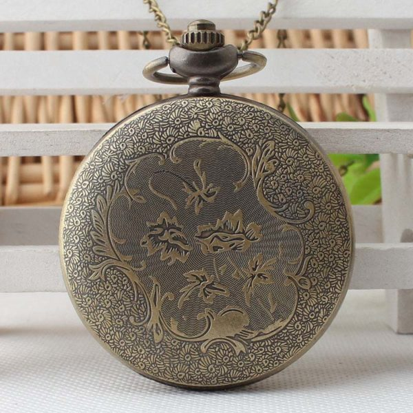 anchor pocket watch back